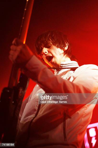 Bassist Andy Hopkins of The Enemy performs on the MTV2 Gonzo On Tour stage at the Concorde 2 during day three of the Great Escape Festival on May 19...