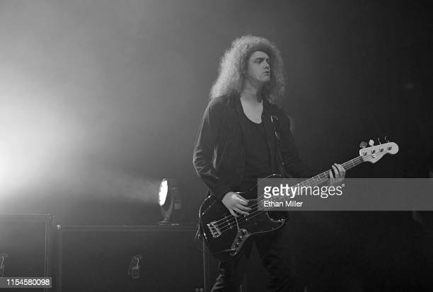 "Bassist Benji Blakeway of Catfish and the Bottlemen performs during X107.5's ""Our Big Concert"" at The Chelsea at The Cosmopolitan of Las Vegas on..."