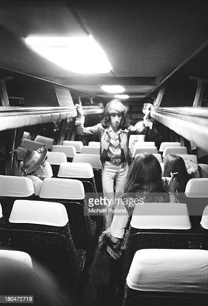 Bassist Bill Wyman of the Rolling Stones on the band's tour bus during a twoday stopover in Glasgow for shows at the Apollo Theatre 16th17th...
