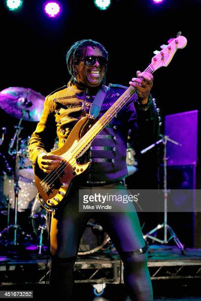 Bassist Bobby Hackney of Death performs onstage at The Roxy Theatre on July 3 2014 in West Hollywood California
