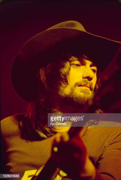 Bassist Boz Burrell of Bad Company performs on stage in 1975