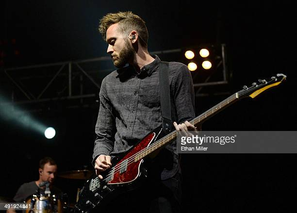 Bassist Brent Kutzle of OneRepublic performs during Tiger Jam 2014 at the Mandalay Bay Events Center on May 17 2014 in Las Vegas Nevada