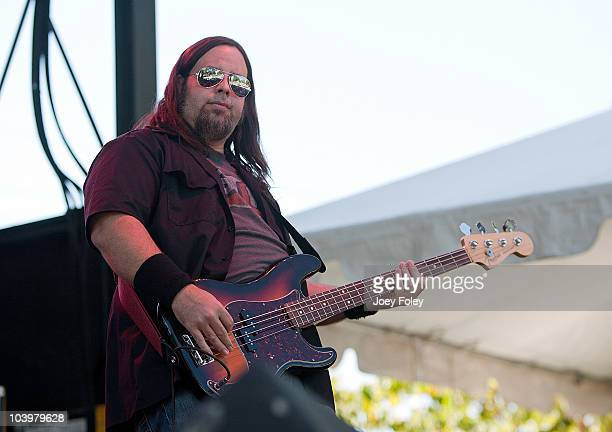 Bassist Casey Daniel of Seven Mary Three performs during the 15th Annual Rib America Festival Day 3 at Military Park on September 5 2010 in...