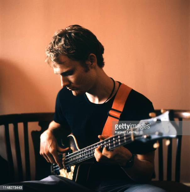 Bassist Chris Wood of jazz trio Modeski Martin and Wood poses for a portrait on July 1 1998 in New York City New York