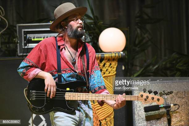 Bassist Chris Zasche of The Head and the Heart performs during the Signs of Light tour on September 26 2017 at Massey Hall in Toronto ON Canada