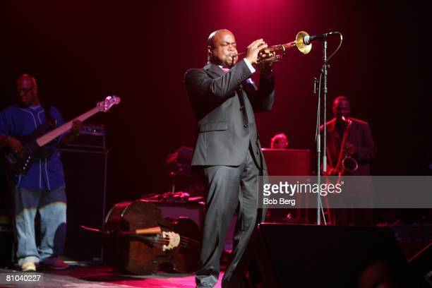 Bassist Christian McBride keyboardist Page McConnell trumpeter Nicholas Payton and saxophonist James Carter perform at the 7th annual Jammy Awards...