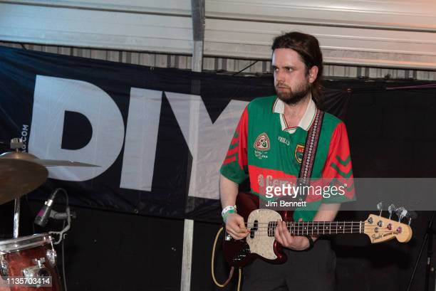 Bassist Conor Deegan of Fontaines D.C. Performs live on stage during the 2019 SXSW Conference and Festival at the Swan Dive on March 13, 2019 in...
