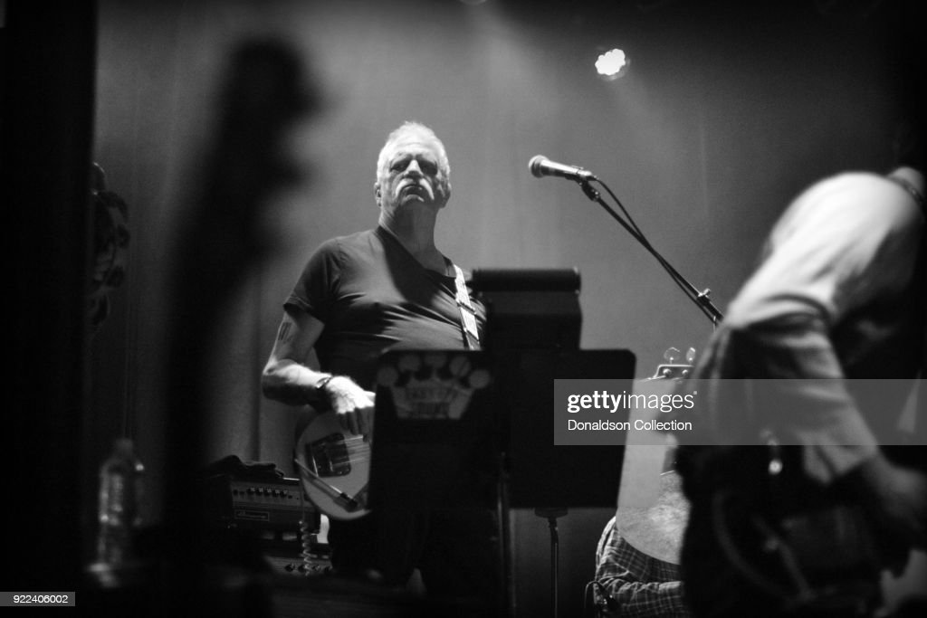 Bassist Dave Roe of the rock band 'Dan Auerbach and the Easy Eye Sound Revue' performs onstage at the Obervatory on February 18, 2018 in Santa Ana, California.