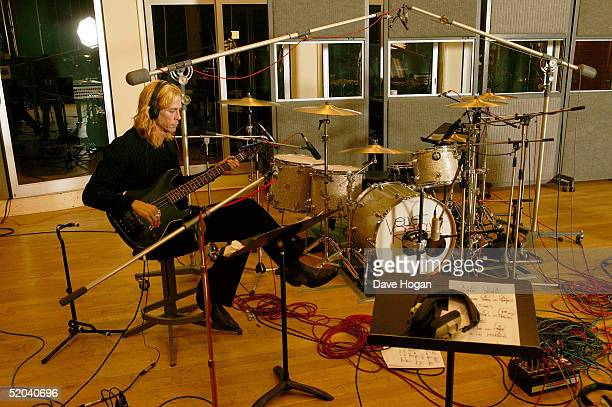 Bassist Duff McKagan of Velvet Revolver records the charity cover of Eric Clapton's Tears In Heaven Tsunami Relief Single at Whitfield Studios on...