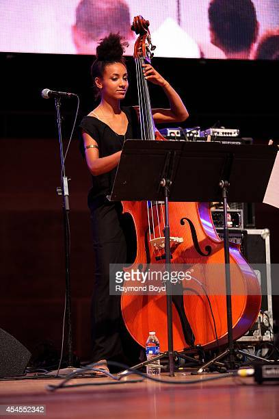 Bassist Esperanza Spalding from Tom Harrell Colors Of A Dream performs during the 36th Annual Chicago Jazz Festival at Millennium Park on August 30...