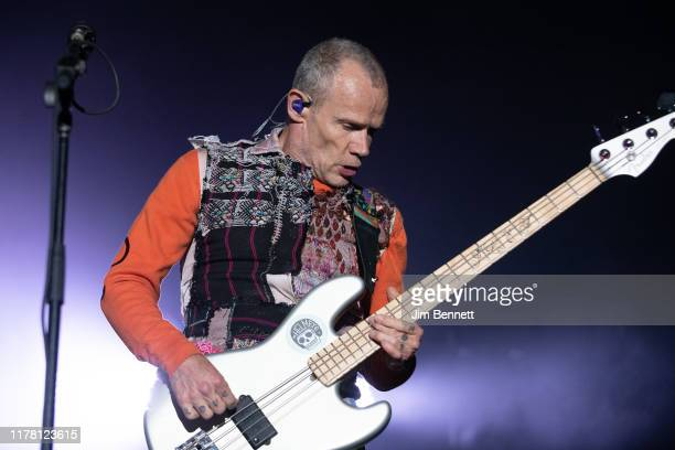 Bassist Flea of Red Hot Chili Peppers performs live during Ohana Festival at Doheny State Beach on September 29, 2019 in Dana Point, California.