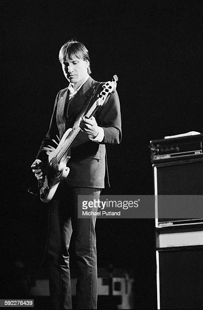 Bassist Fred Smith performing with American rock group Television on one of their two nights at the Hammersmith Odeon London 28th29th May1977