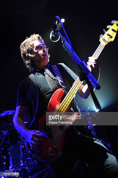 Bassist Glenn Hughes performing live on stage with blues rock guitarist Scott McKeon at the O2 Academy on October 5 in London.