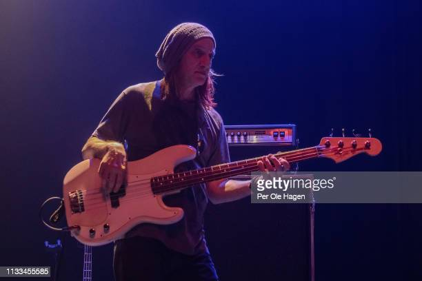 Bassist Greg Rzab withJohn Mayall performs at Rockefeller on March 3 2019 in Oslo Norway