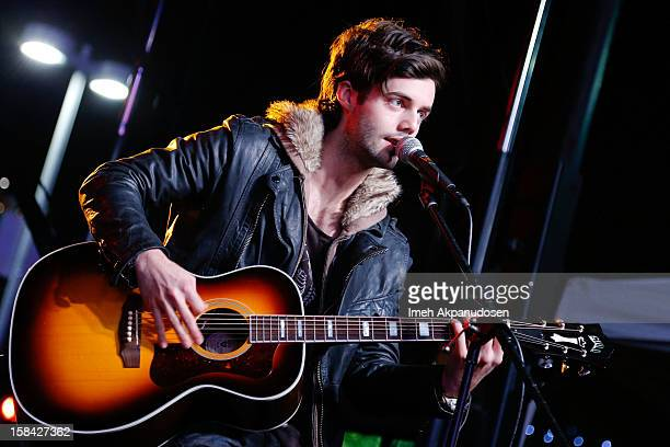 Bassist Ian Keaggy of Hot Chelle Rae performs onstage at The 3rd Annual Salvation Army Rock The Red Kettle Concert at Nokia Theatre LA Live on...