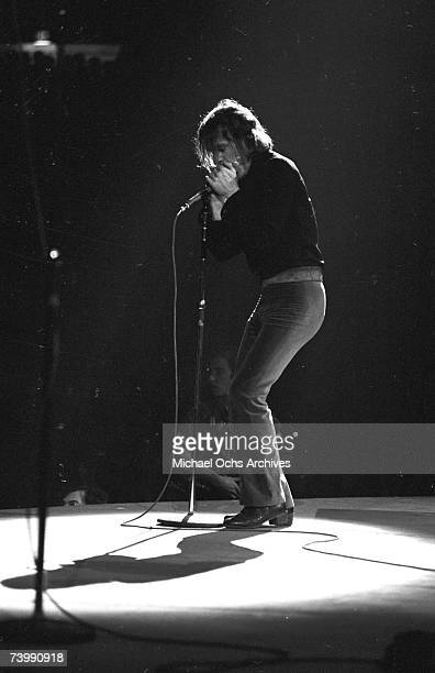 Bassist Jack Bruce of the rock band Cream performs onstage at Madison Square Garden on November 2 1968 in New York City New York