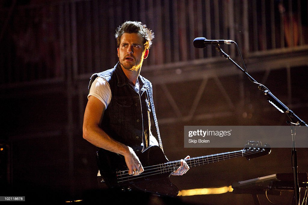 Bassist Jared Followill of Kings of Leon performs during day 2 of the Bonnaroo Music and Arts Festival at the Bonnaroo Festival Grounds on June 11, 2010 in Manchester, Tennessee.