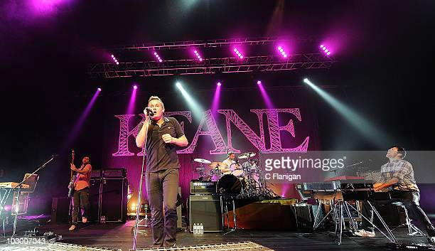 Bassist Jesse Quin, Vocalist/Guitarist Tom Chaplin, Drummer Richard Hughes and Keyboardist/Vocalist Tim Rice-Oxley of Keane perform at The Fox...