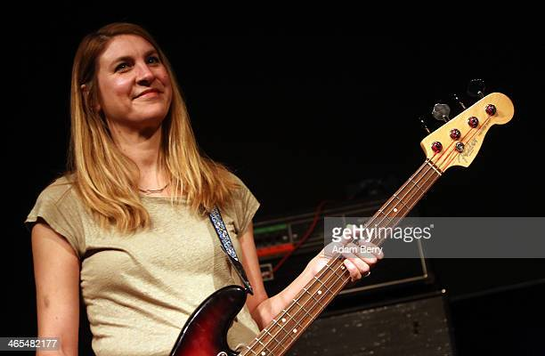 Bassist Joanna Bolme of Stephen Malkmus and The Jicks performs during a concert at Postbahnhof on January 27 2014 in Berlin Germany