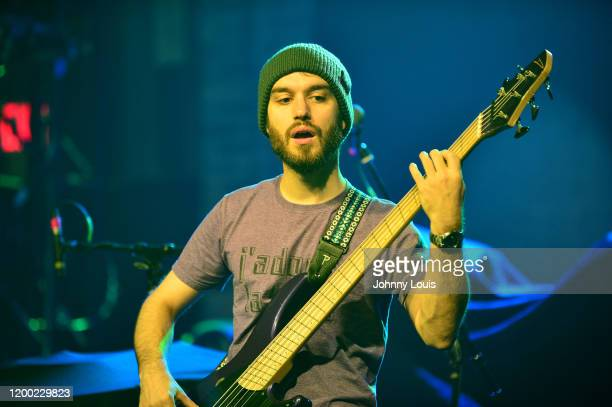 Bassist Joe Calderone of Arch Echo performs at Revolution Live on February 11 2020 in Fort Lauderdale Florida