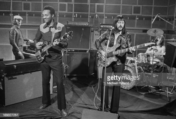 Bassist John Entwistle of the Who and his band performing material from his third solo album 'Rigor Mortis Sets In' on the BBC music programme 'The...