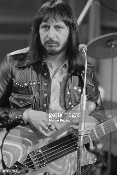 Bassist John Entwistle of the Who performing material from his third solo album 'Rigor Mortis Sets In' on the BBC music programme 'The Old Grey...