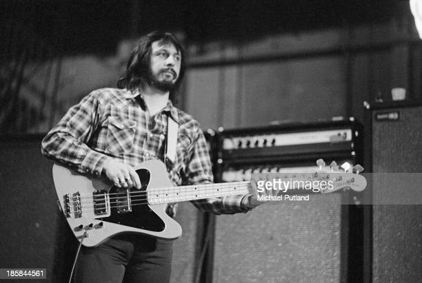 Bassist John Entwistle performing with English rock group The Who 24th October 1973