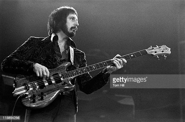 John Entwistle of The Who performing onstage during The Who in Concert at the Omni Coliseum in Atlanta November 24 1975 at Omni Coliseum in Atlanta...