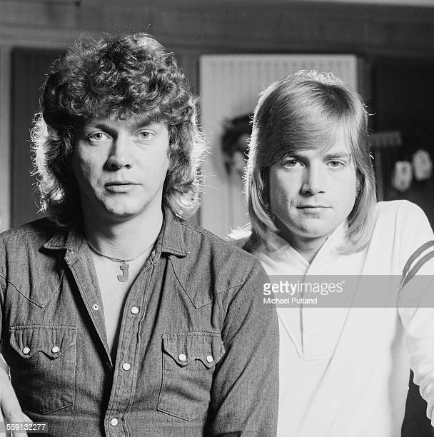 Bassist John Lodge and singersongwriter and guitarist Justin Hayward of English rock group The Moody Blues 23rd October 1975 The pair collaborated...