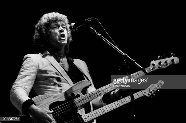 Bassist John Lodge of the Moody Blues performs at the Poplar Creek Music Theater in Hoffman Estates Illinois July 18 1981