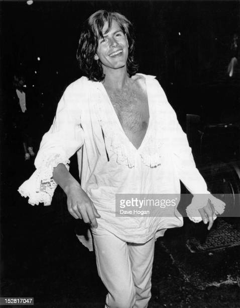 Bassist John Taylor of English pop group Duran Duran at a party for Queen drummer Roger Taylor's 40th birthday at Brown's nightclub London 27th July...