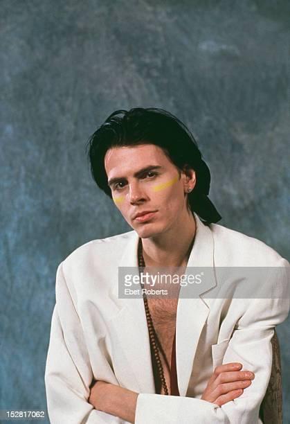 Bassist John Taylor of English pop group Duran Duran circa 1990