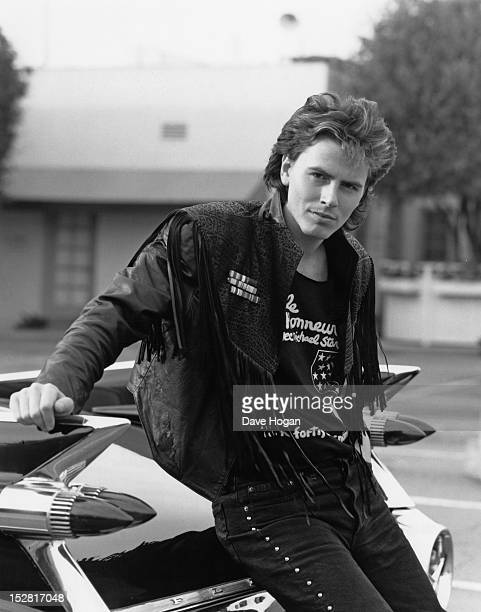 Bassist John Taylor of English pop group Duran Duran in Los Angeles 31st March 1987