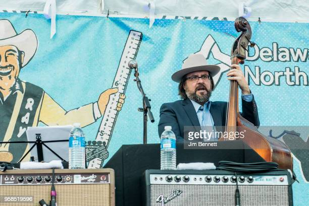 Bassist Josh Hoag of Asleep At The Wheel performs live on stage at Ray Benson's 67th birthday party concert benefiting Health Alliance for Austin...