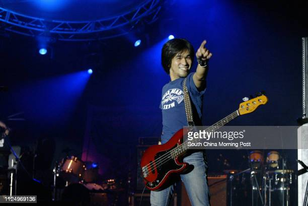 Bassist Kazuto Maekawa of Electric Eel Shock from Tokyo takes main stage for an arresting performance at Rockit HK Music Festival Victoria Park 14...