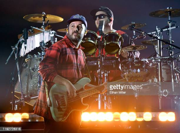Bassist Kelsey Gonzalez and DJ/drummer Callum Connor of Anderson Paak The Free Nationals perform at the Intersect music festival at the Las Vegas...