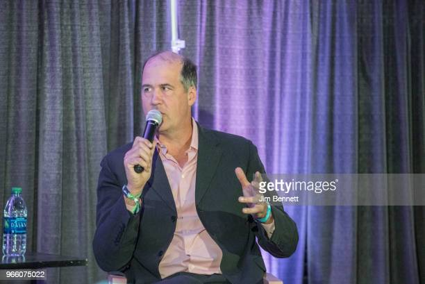 Bassist Krist Novoselic of Nirvana and Giants in the Trees for a Fireside Chat during Upstream Music Conference on June 1 2018 in Seattle Washington