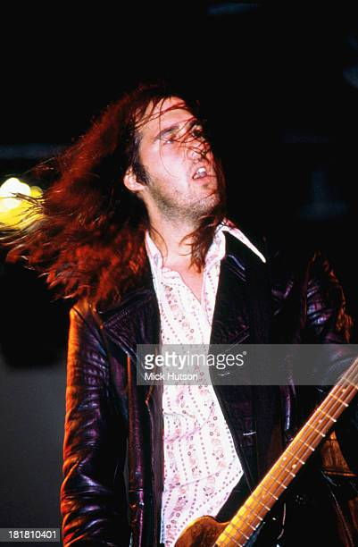Bassist Krist Novoselic performing with American rock group Nirvana at the Reading Festival, Berkshire, 30th August 1992.
