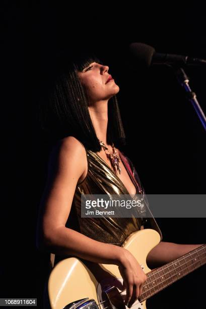 Bassist Laura Lee of Khruangbin performs live on stage at the Moore Theatre on November 16 2018 in Seattle Washington