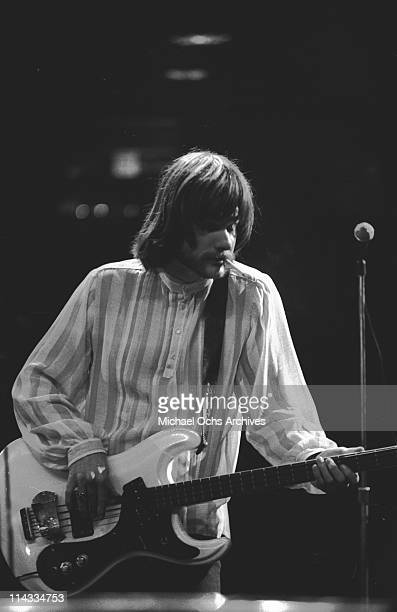 Bassist Lee Dorman of the rock and roll band Iron Butterfly performs onstage at the Fillmore East on February 1 1969 in New York City New York
