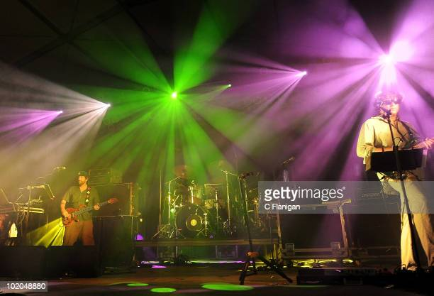 Bassist Marc Brownstein and Guitarist Jon Gutwillig of The Disco Biscuits perform during day 3 of the Bonnaroo Music and Arts Festival at the...