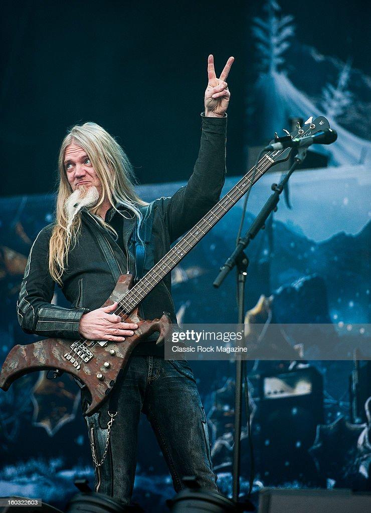Bassist Marco Hietala of Finnish symphonic metal group ...