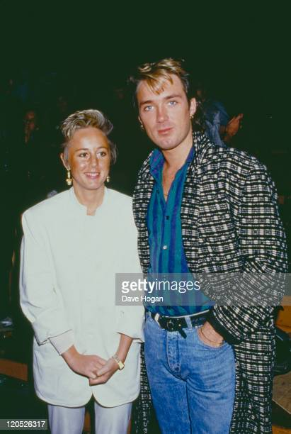 Bassist Martin Kemp of British pop group Spandau Ballet with his wife singer Shirlie Holliman of Pepsi Shirlie 1985
