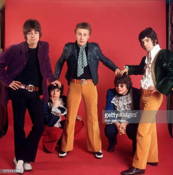 Bassist Mick Jackson, keyboardist Lynton Guest, singer Steve Ellis, drummer Maurice Bacon and guitar player Rex Brayley, all of the British pop group...
