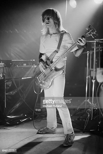 Bassist Mick Karn performing with English new wave group Japan New York November 1978