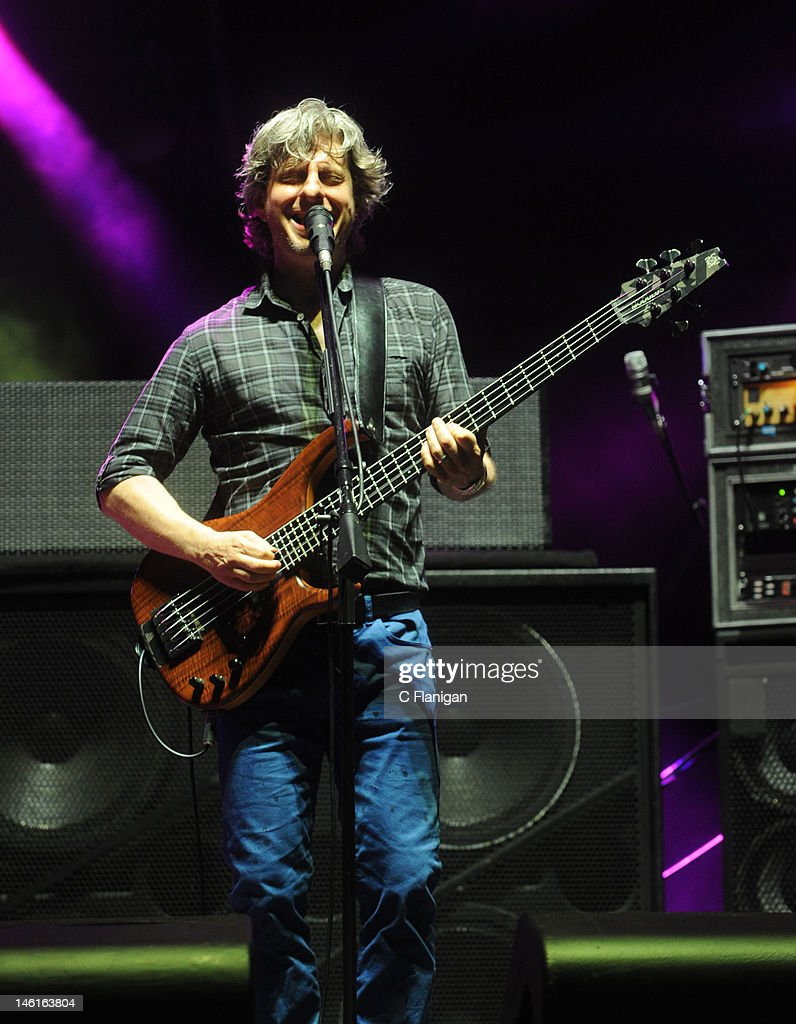 Bassist Mike Gordon of PHISH performs during the 2012 Bonnaroo Music and Arts Festival on June 10, 2012 in Manchester, Tennessee.