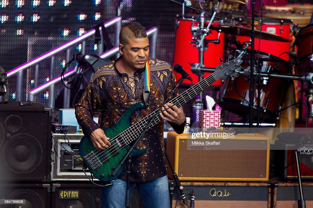 Bassist Oteil Burbridge of Dead and Company performs at Shoreline Amphitheatre on July 30, 2016 in Mountain View, California.