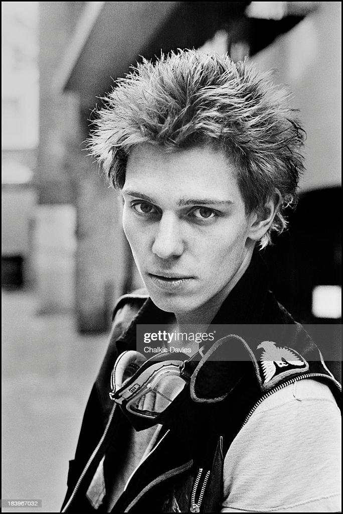 Bassist Paul Simonon, of British punk group The Clash, north London, April 1977.