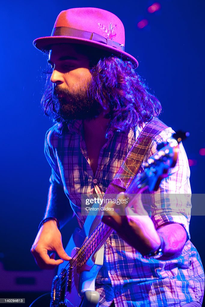Bassist Payam Doostzadeh of Young The Giant performs at The Sound Academy on March 1, 2012 in Toronto, Canada.