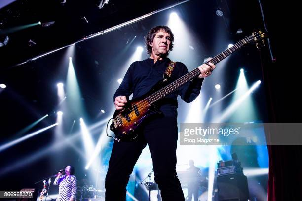 Bassist Pete Trewavas of British progressive rock group Marillion performing live on stage at Port Zelande Center Parcs in South Holland as part of...